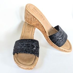 Tuscany by Easy Street Made In Italy Wedge Sz 8.5